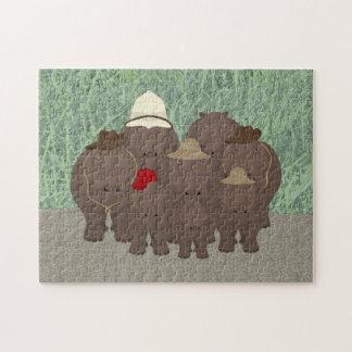 Quebra-cabeça do safari do hipopótamo