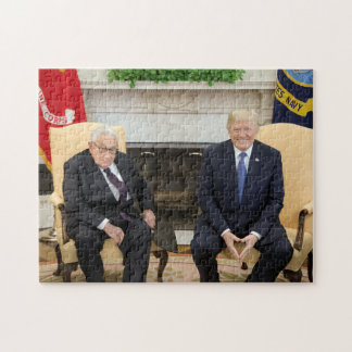 Quebra-cabeça Donald Trump com Henry Kissinger