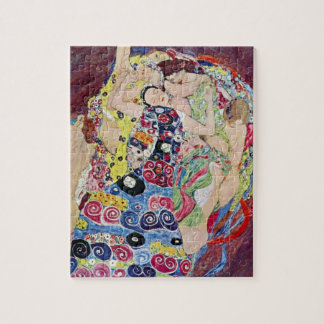 Quebra-cabeça Donzela (Virgin), Gustavo Klimt, arte Nouveau do