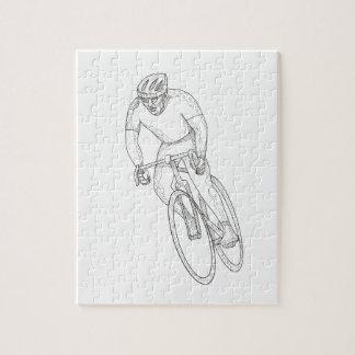 Quebra-cabeça Doodle de competência da bicicleta da estrada