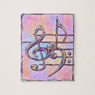 Quebra-cabeça dos símbolos de música 3