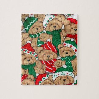 Quebra-cabeça dos ursos do Natal