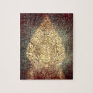 quebra-cabeça dourado de buddha