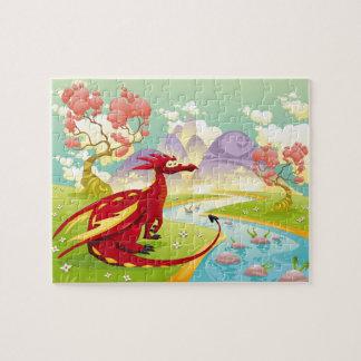 Quebra-cabeça Dragão vermelho Dreamscape 8x10