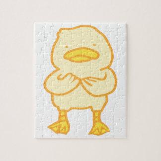 Quebra-cabeça Ducky da foto 8x10 com caixa de