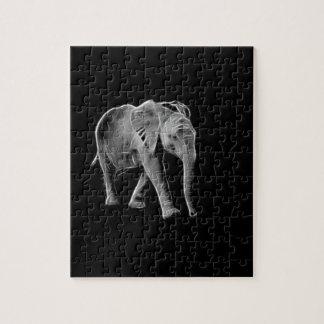Quebra-cabeça Elefante de néon do bebê