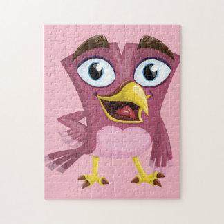 Quebra-cabeça engraçado da foto do pássaro 11x14