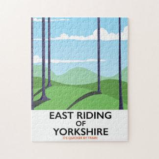 Quebra-cabeça Equitação do leste do poster de viagens de