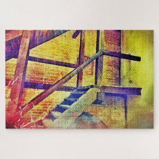 Quebra-cabeça Escadas e Wals da cor do arco-íris