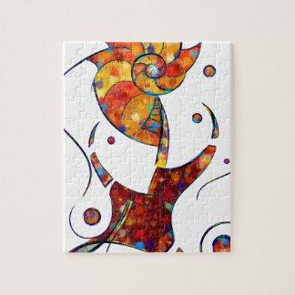 Quebra-cabeça Espanessua - flor espiral imaginária