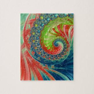 Quebra-cabeça Espiral brilhante