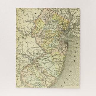 Quebra-cabeça Estado colorido da costa do mapa antigo de