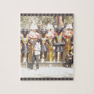 Quebra-cabeça Estátua cultural da mostra de India de artistas