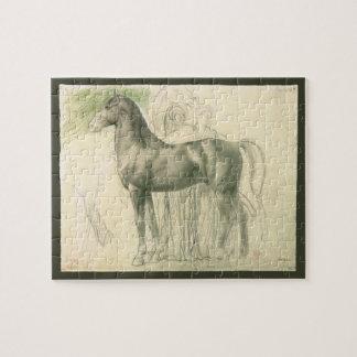 Quebra-cabeça Estudo de um cavalo por Edgar Degas, belas artes