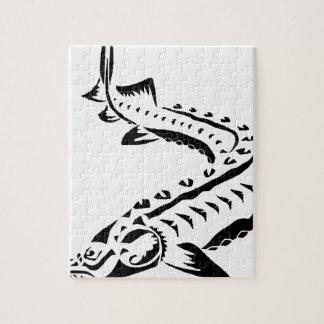 Quebra-cabeça Esturjão tribal - beluga de Huso