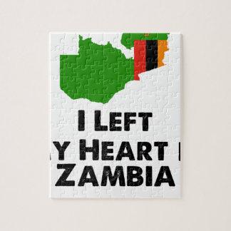Quebra-cabeça Eu deixei meu coração na Zâmbia