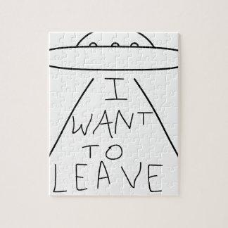 Quebra-cabeça eu quero sair