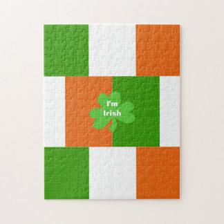 Quebra-cabeça Eu sou bandeira irlandesa de palavras opcionais de