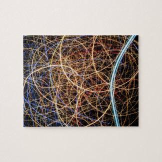 Quebra-cabeça Exposição da luz da Multi-Cor, laser colorido