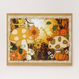 Quebra-cabeça Fantasia lunática do outono do cogumelo
