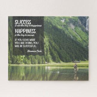 Quebra-cabeça Felicidade a chave ao sucesso