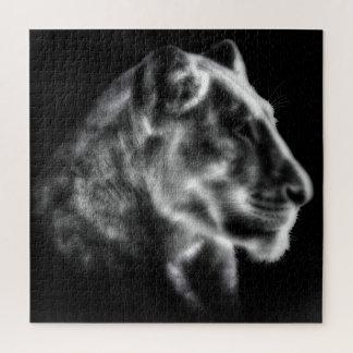 Quebra-cabeça feroz da leoa
