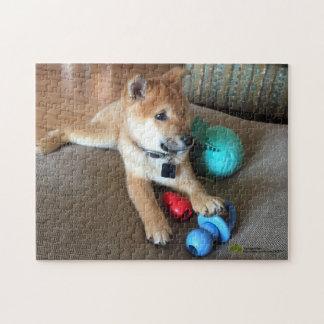 Quebra-cabeça Filhote de cachorro de Shiba Inu com a fotografia