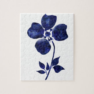 Quebra-cabeça Flor azul