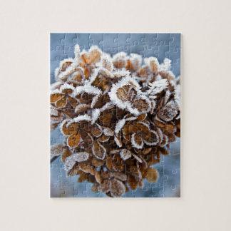 Quebra-cabeça Flor com cristais de gelo