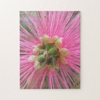 Quebra-cabeça Flor cor-de-rosa da árvore de goma