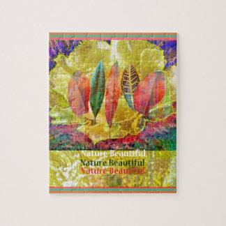 Quebra-cabeça Flor de Goldern e natureza das folhas bonita