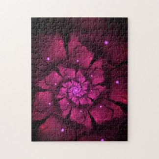Quebra-cabeça Flor violeta