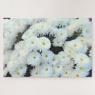 Quebra-cabeça Flores brancas do crisântemo