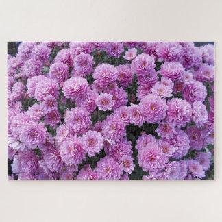 Quebra-cabeça Flores cor-de-rosa do crisântemo
