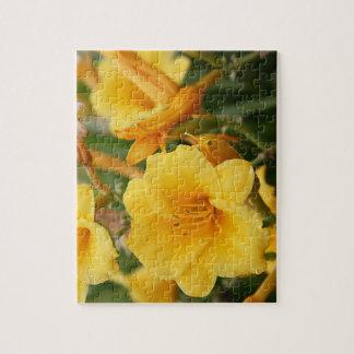 Quebra-cabeça Flores douradas