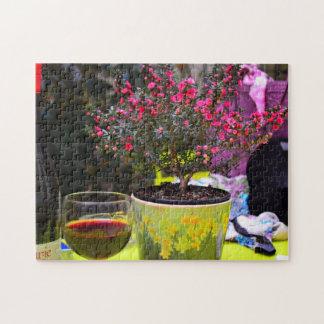 Quebra-cabeça Flores e vinho cor-de-rosa Potted em Paris
