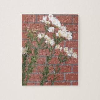 Quebra-cabeça Flores no tijolo