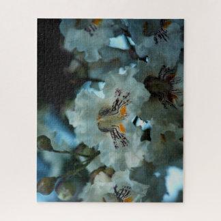 Quebra-cabeça Flores tropicais brancas
