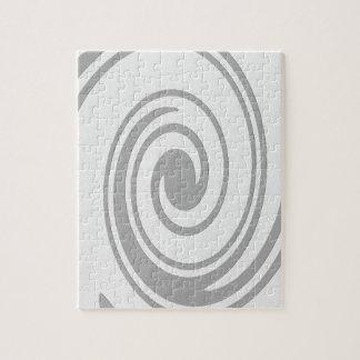 Quebra-cabeça Fluxo espiral cinzento do teste padrão esquerda