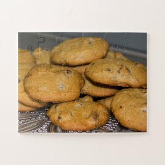 Quebra-cabeça Foto dos biscoitos dos pedaços de chocolate