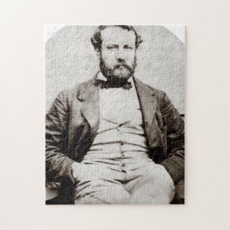 Quebra-cabeça Fotografia do retrato de Jules Verne do vintage