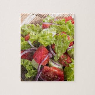 Quebra-cabeça Fragmento da salada do vegetariano dos legumes