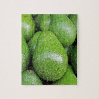Quebra-cabeça Fruta de abacates verde fresca