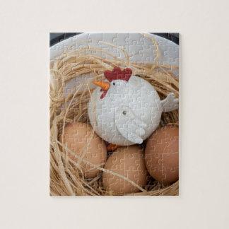 Quebra-cabeça Galinha & ovos