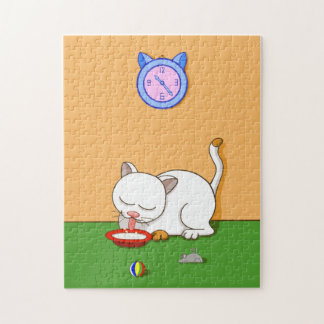 Quebra-cabeça Gato leitoso