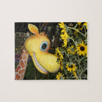 Quebra-cabeça Girafa e as margaridas