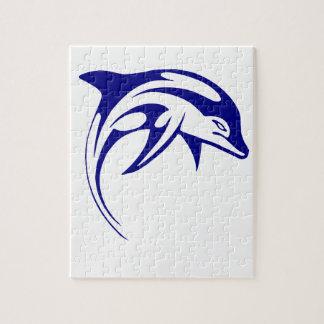 Quebra-cabeça Golfinho azul