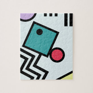 Quebra-cabeça Gráficos abstratos do estilo do pop art de 80s