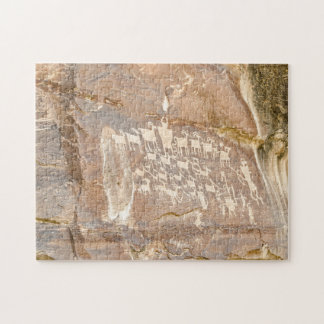 Quebra-cabeça Grande painel da caça - arte da rocha