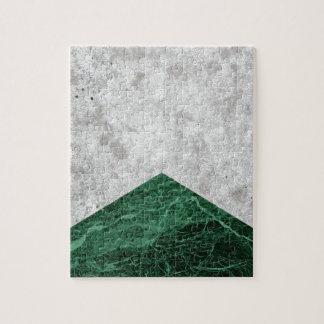 Quebra-cabeça Granito concreto #412 do verde da seta